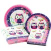 Creative Converting Owl Pal Birthday Party Table Ware Kit