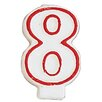 Creative Converting 8 Numeral Birthday Candle