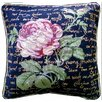 Tache Home Fashion Solitary Rose Pillow Cover (Set of 2)