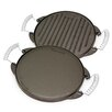 Victoria Preseasoned Cast Iron Reversible Griddle