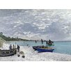Wallhogs Monet The Beach at Sainte-Adresse (1867) Poster Wall Mural