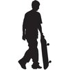 Wallhogs Skateboard Silhouette XI Cutout Wall Decal