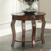 WorldWide HomeFurnishings End Table with Glass Inset Top