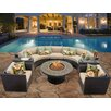 TK Classics Barbados 8 Piece Fire Pit Seating Group with Cushion