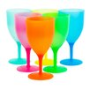 Imperial Home Picnic 6 Piece Colorful Party Goblets