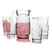 Circle Glass 17 Piece Pitcher and Glass Set