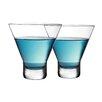 Circle Glass Perfection 8 oz. Stemless Martini