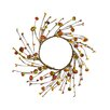 Shea's Wildflowers Mini Pumpkin and Wild Berry Candle Ring Wreath