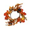 Shea's Wildflowers Harvest Leaves and Berry Candle Ring Wreath