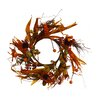 Shea's Wildflowers Cinnamon Sunflower Candle Ring Wreath