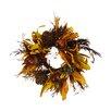 Shea's Wildflowers Peru Acorn Taper Candle Ring Wreath (Set of 2)