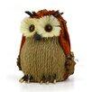 Shea's Wildflowers Burlap Sitting Owl Figurine