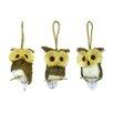 Shea's Wildflowers 3 Piece Assorted Hoot Owl Figurine