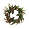 Shea's Wildflowers Christmas Berry and Pine Cone Wreath