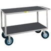 "Little Giant USA 24"" x 53.5"" Flush Handle Steel Instrument Cart with Non-Slip Vinyl Matting"
