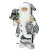 Northlight Seasonal Country Patchwork Standing Santa Claus Christmas Figure