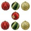Northlight Seasonal 7 Piece Earthy Shatterproof Ball Christmas Ornament Set
