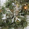 Northlight Seasonal 7.5' Pre-lit Snow Mountain Pine Artificial Christmas Tree with Clear Lights