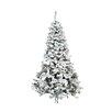 Northlight Seasonal 9' Heavily Flocked Pine Medium Artificial Christmas Tree with Multi Lights