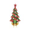 Northlight Seasonal 5' Alpine Artificial Christmas Tree with Clear Lights