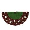 Northlight Seasonal Country Christmas Tree Skirt with Snowflake Appliques