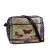 Northlight Seasonal Vintage Butterfly Garden Crossbody Bag with Strap