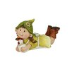 Northlight Seasonal Young Girl Gnome Lounging with Chicken Garden Statue