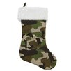 Northlight Seasonal Army Camouflage Christmas Stocking with Pocket and Faux Fur Cuff