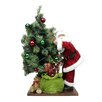 Northlight Seasonal LED Santa Claus with Tree and Gift Bag Christmas Figure on Wooden Base