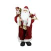 Northlight Seasonal Standing Santa Claus in Long Robe with Gifts Christmas Figure