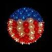 Northlight Seasonal Patriotic U.S Flag Lighted Hanging Starlight Sphere Ball Decoration