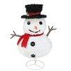 Northlight Seasonal Pre-Lit Outdoor Chenille Snowman Kid Christmas Decoration