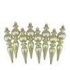 Northlight Seasonal Ribbed Shatterproof Christmas Finial Ornament (Set of 8)