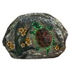 Northlight Seasonal LED Lighted Solar Powered Turtle and Flowers Outdoor Garden Stone