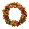 Northlight Seasonal Autumn Blessings Maple Leaf Berry and Acorn Artificial Thanksgiving Wreath