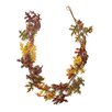 Northlight Seasonal Glittered Acorn and Hawthorne Leaf Unlit Artificial Thanksgiving Garland