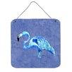 Caroline's Treasures Flamingo on Slate Blue Aluminum Hanging Painting Print Plaque