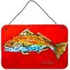 Caroline's Treasures Fish Red Fish Red Head Aluminum Hanging Painting Print Plaque