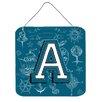 Caroline's Treasures Sea Doodles Initial Alphabet Graphic Art Plaque
