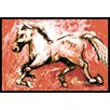 Caroline's Treasures Shadow The Horse Doormat