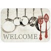 Caroline's Treasures Pots and Pans Welcome Kitchen/Bath Mat