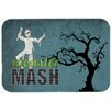 Caroline's Treasures Monster Mash with Mummy Halloween Kitchen/Bath Mat