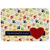 Caroline's Treasures Dogs Leave Pawprints on Your Heart Kitchen/Bath Mat