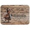 Caroline's Treasures Rodeo Cowgirl Barrel Racer Kitchen/Bath Mat