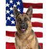 Caroline's Treasures American Flag with German Shepherd 2-Sided Garden Flag