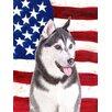 Caroline's Treasures American Flag with Alaskan Malamute 2-Sided Garden Flag