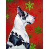Caroline's Treasures Great Dane Red and Green Snowflakes Holiday Christmas 2-Sided Garden Flag