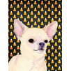 Caroline's Treasures Chihuahua Candy Corn Halloween Portrait 2-Sided Garden Flag