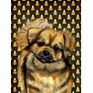 Caroline's Treasures Tibetan Spaniel Candy Corn Halloween Portrait 2-Sided Garden Flag