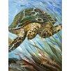 Caroline's Treasures Loggerhead Sea Turtle House Vertical Flag